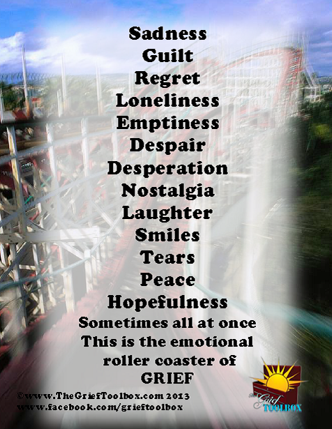 Grief is multifaceted emotions...we can laugh and cry all ...