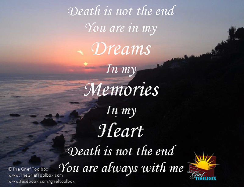 Death is not the end - Poem | The Grief Toolbox