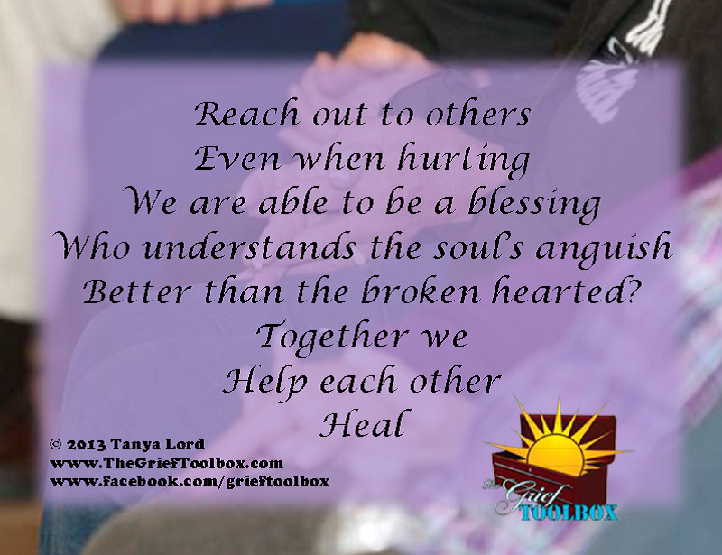 Reach out to others A Poem | The Grief Toolbox
