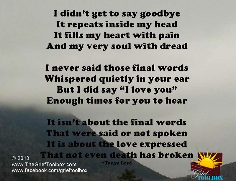 saying goodbye poems