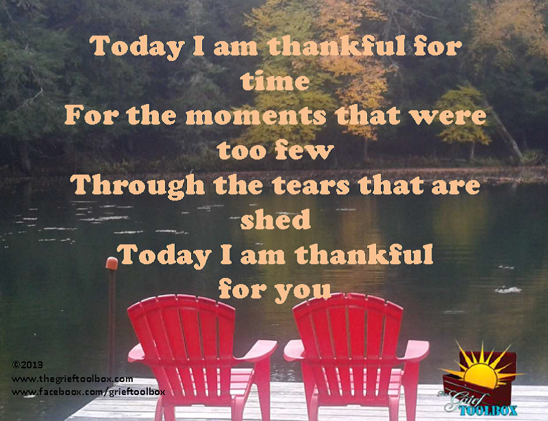 Today I am Thankful for you - A Poem | The Grief Toolbox