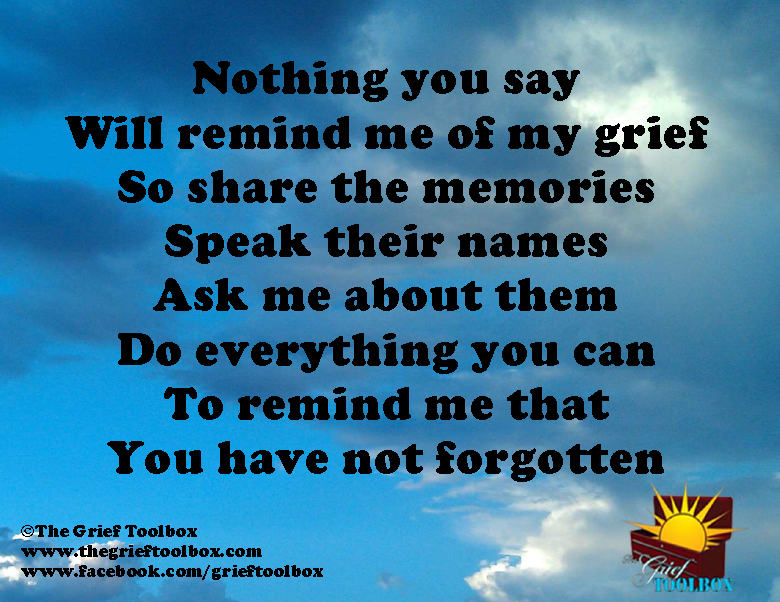 Remind Me That You Have Not Forgotten