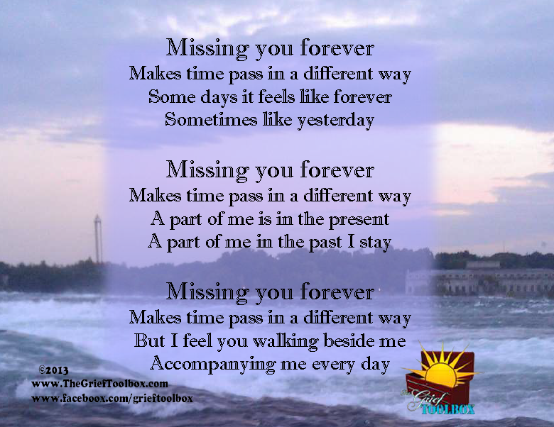 Missing You Forever A Poem The Grief Toolbox