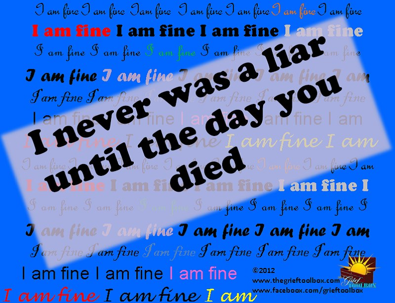 you lied in your grief the grief toolbox