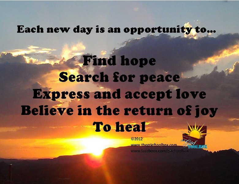 Each New Day Is A New Opportunity To Improve Yourself: Each New Day Is An Opportunity To Heal