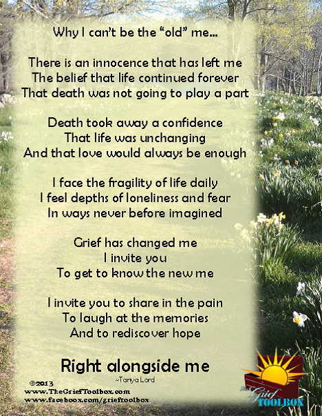 The New Me A Poem The Grief Toolbox