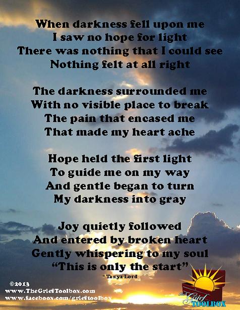 Joy enters a broken heart A Poem The Grief Toolbox