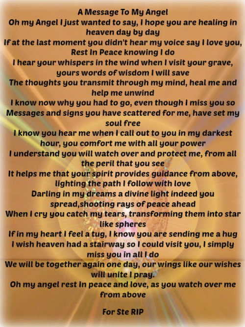 a message to my angel the grief toolbox
