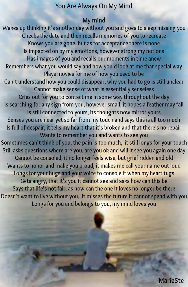 You Are Always On My Mind | The Grief Toolbox