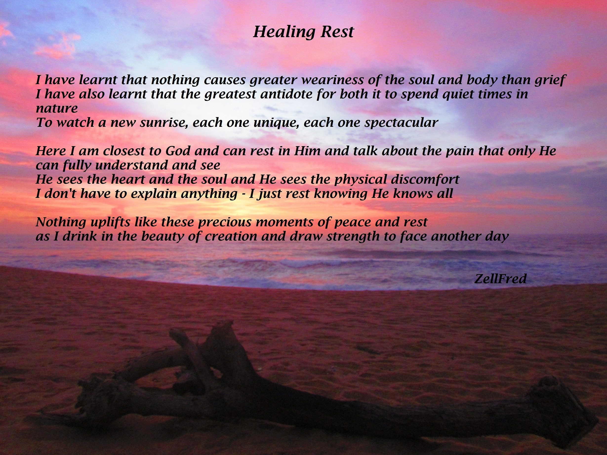 Healing Rest The Grief Toolbox