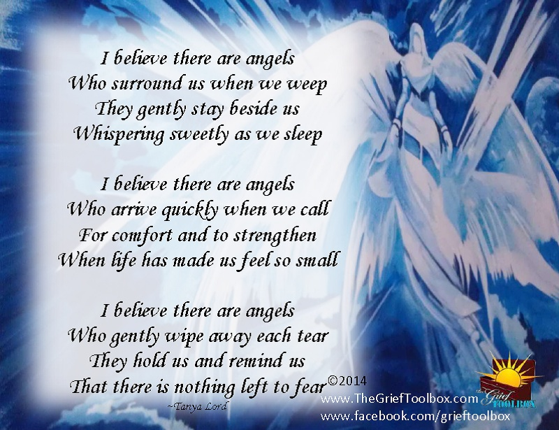I Believe In Angels A Poem The Grief Toolbox