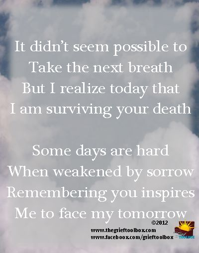 In Grief Remembering You Inspires Me The Grief Toolbox
