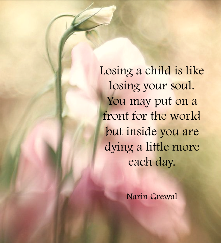 Losing Mom Quotes: Losing A Child Is Like ...