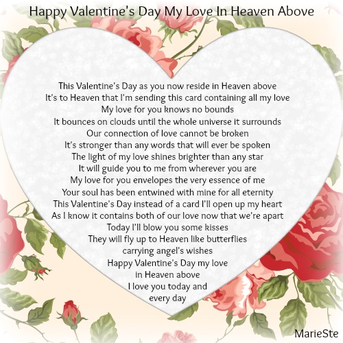 16 Valentine S Day Quotes To Share The Love: Happy Valentine's Day My Love In Heaven Above