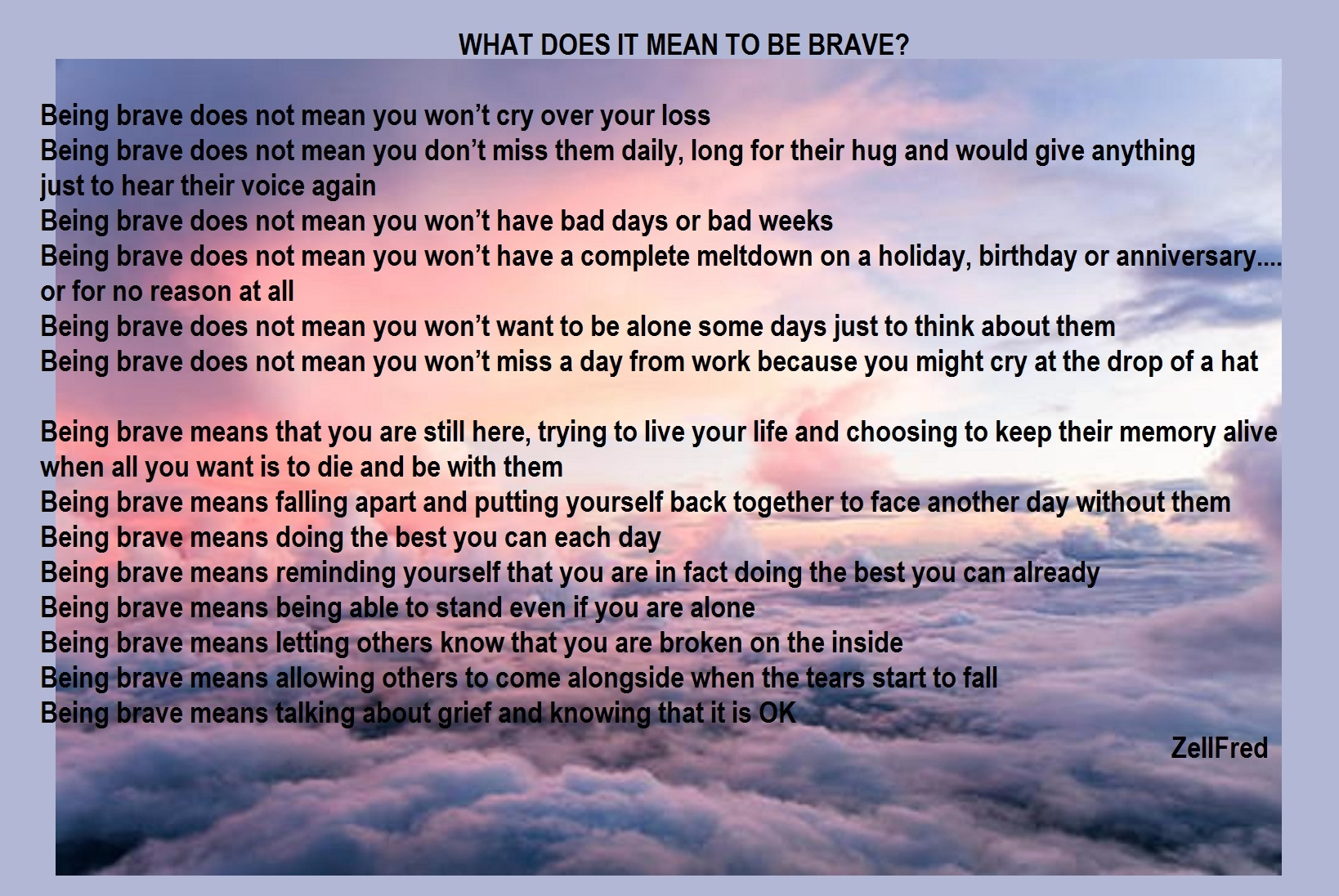 What does it mean to be brave? | The Grief Toolbox