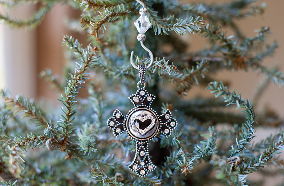 Cross Forever in My Heart Ornament