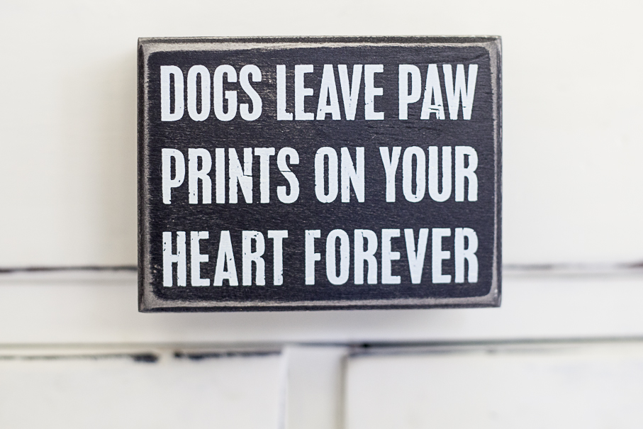 Dogs Leave Paw Prints... Box Sign