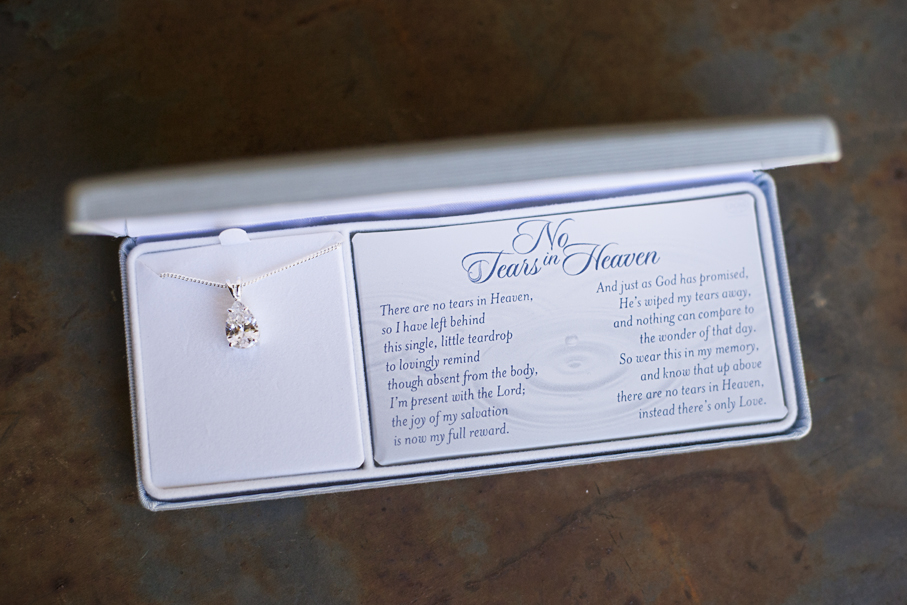No Tears In Heaven Necklace The Grief Toolbox