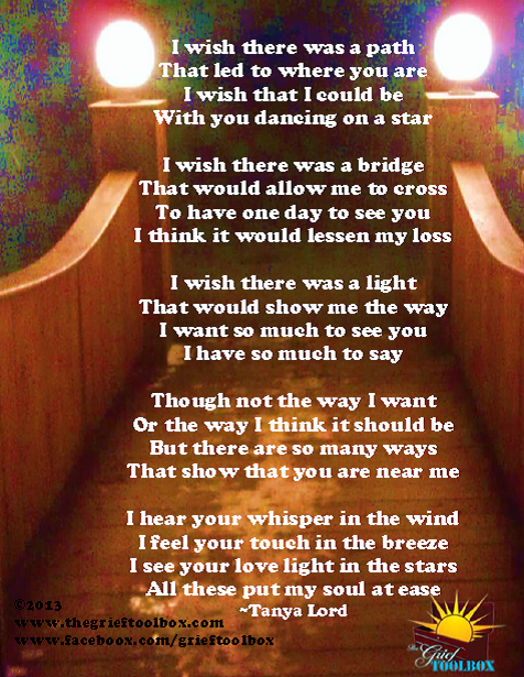 The Bridge A Poem The Grief Toolbox