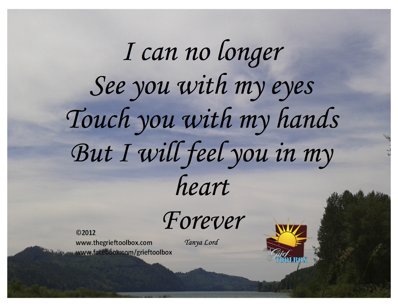 Feel you in my heart forever - A Poem | The Grief Toolbox