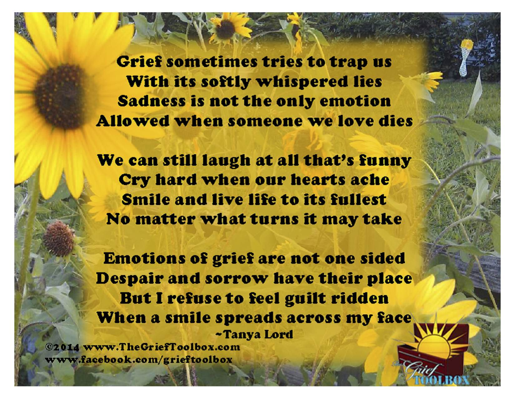 Griefs Emotions A Poem The Grief Toolbox