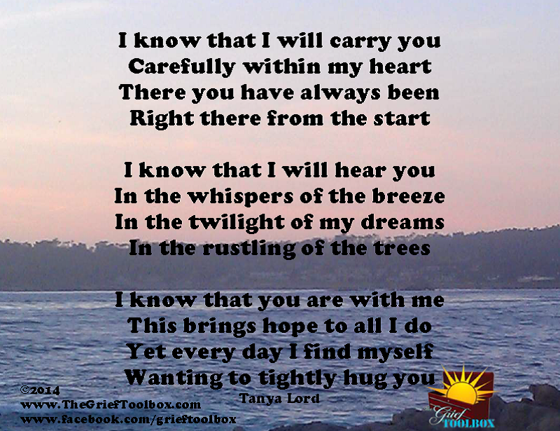 I Wanna Cuddle With You Poem: The Grief Toolbox