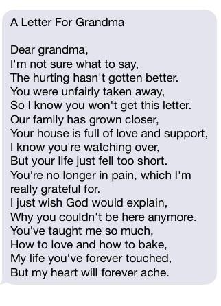 A letter for grandma | The Grief Toolbox