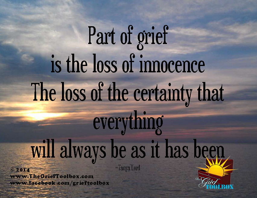 loss of innocence a poem the grief toolbox