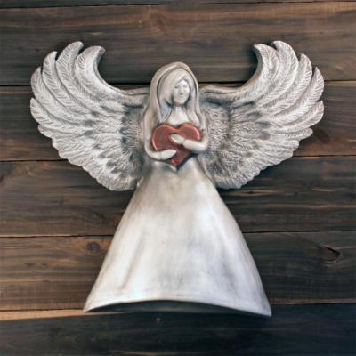 Angel with Heart Cremation Urn