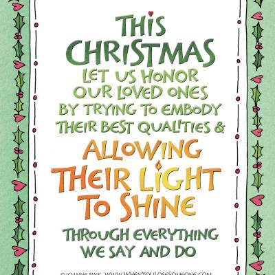 This Christmas Allow their light to Shine