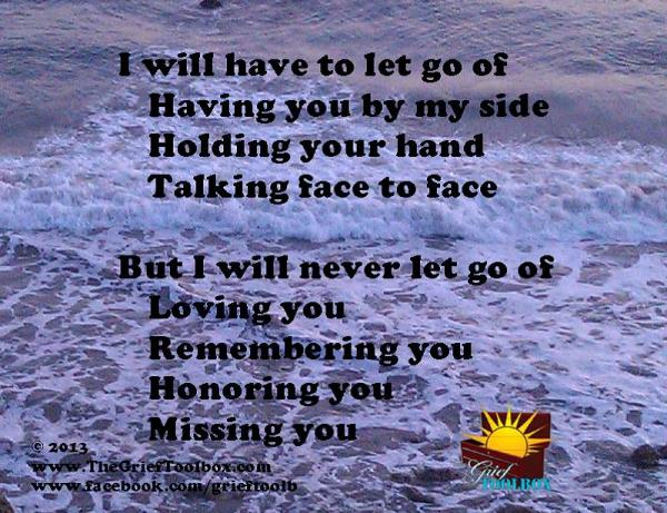 Never Let Go Loving You A Poem The Grief Toolbox
