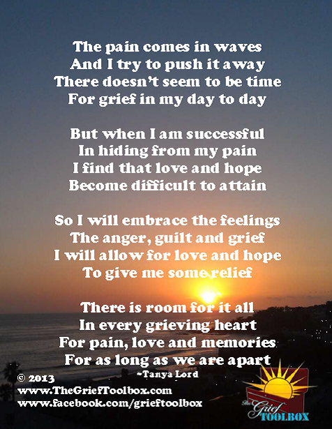 Pain Love And Memories A Poem The Grief Toolbox
