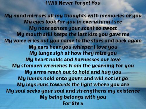 I Will Never Forget You The Grief Toolbox