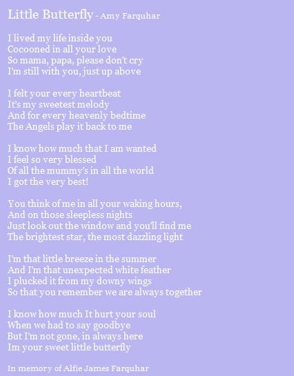 Little Butterfly A Poem About Baby Loss The Grief Toolbox